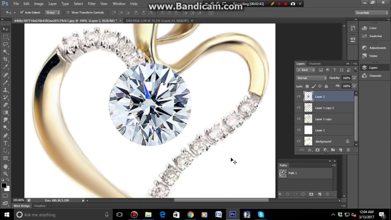 how to retouching jewelry photo and best jewelry
