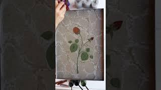 Ebru Sanati Gül Yapımı