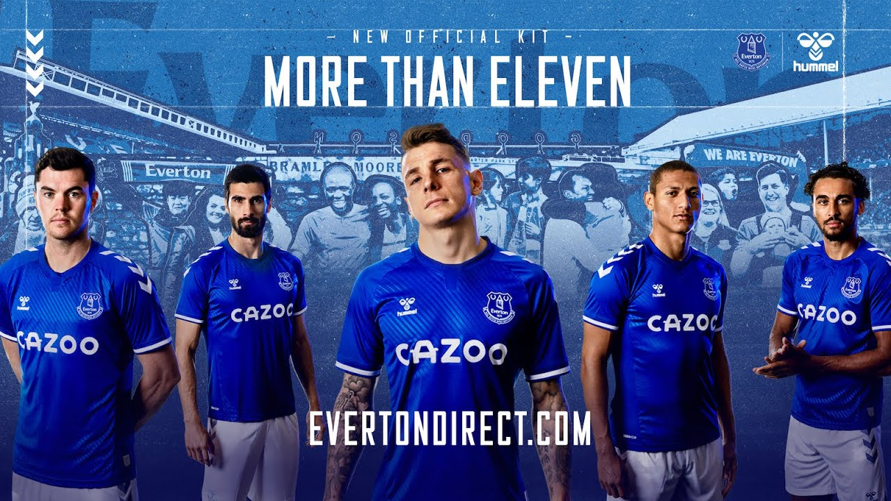 Everton S New 2020 21 Home Kit Revealed Efc X Hummel More Than Eleven Youtube