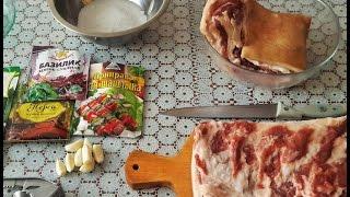 Сало с чесноком в банке - Ооочень ВКУСНО!!!(Очень вкусный рецепт как посолить сало с чесноком и специями в банке в домашних условиях за 6 дней., 2016-05-10T09:56:43.000Z)