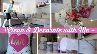 CLEAN AND DECORATE WITH ME 2018 // CLEANING AND DECORATING FOR VDAY // CLEANING MOTIVATION