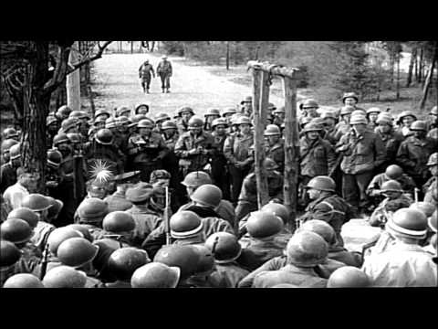 Atrocities on prisoners in Nazi concentration camps at different places in German...HD Stock Footage