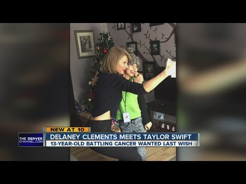 13-year-old cancer patient Delaney Clements meets with Taylor Swift