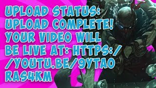 Upload status: Upload complete! Your video will be live at: https://youtu.be/9YtaOrAs4kM