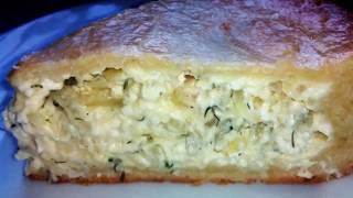 Луковый пирог, вкусно)Пирог с плавленными сырками и луком, oчень нежное тесто и вкусная начинка