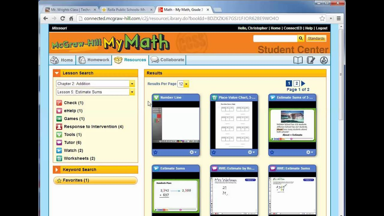 My Math Online Tour - YouTube