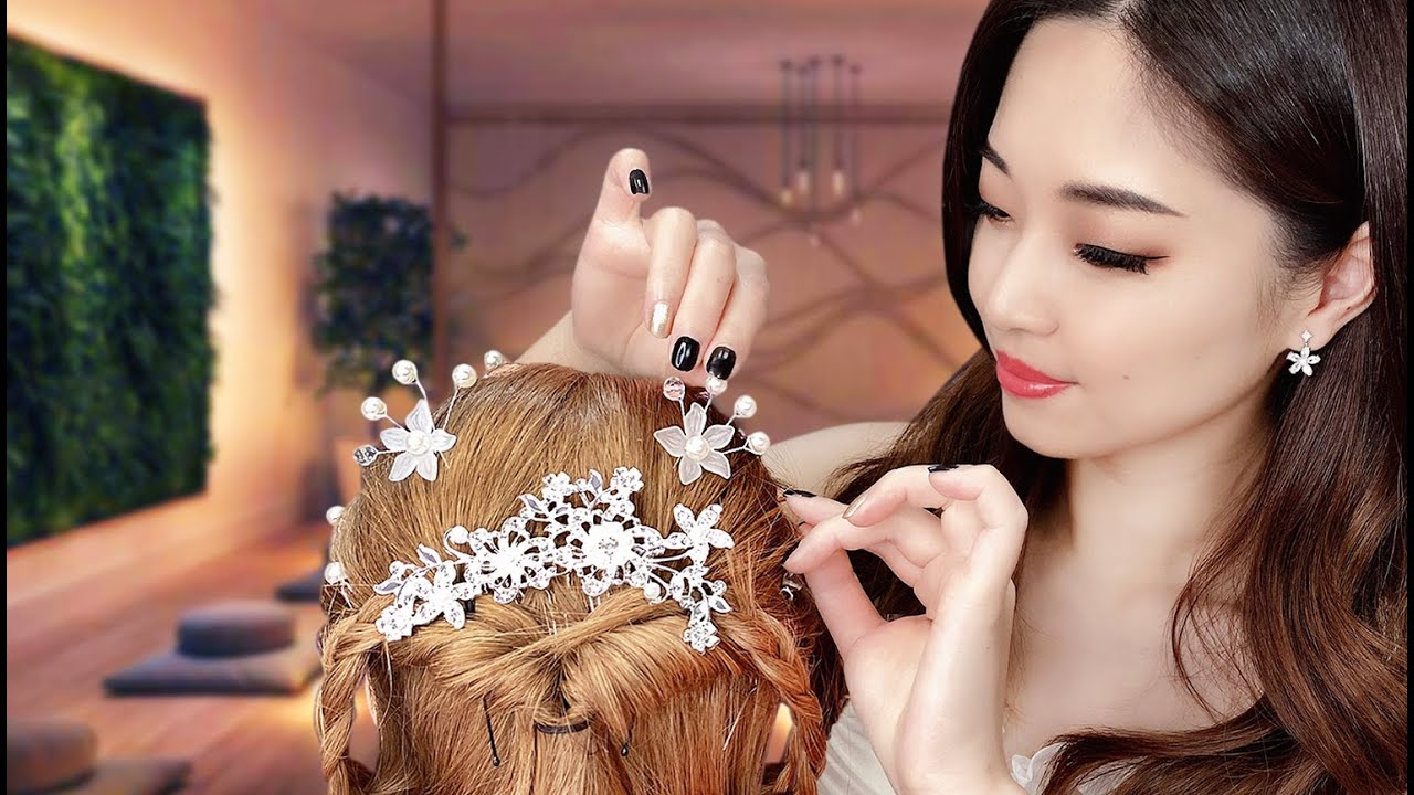 [ASMR] Doing Your Wedding Hair ~ 2 Styles