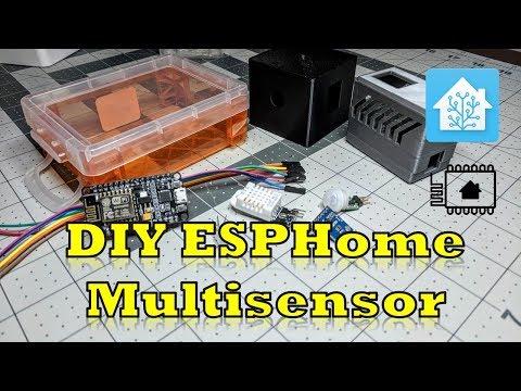 DIY ESPHome Multisensor - Temp, Humidity, RGB LED, Motion