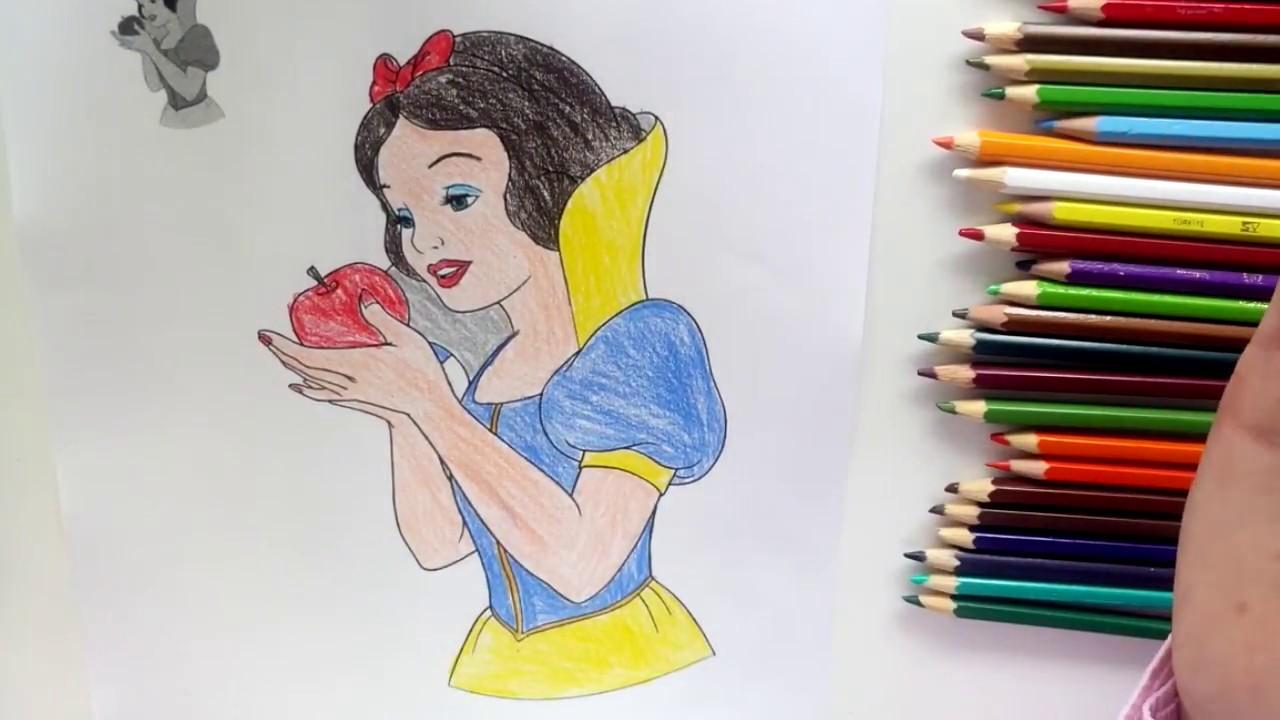 Prenses Boyama Oyunu Pamuk Prenses Boyama Oyunu 2 Youtube