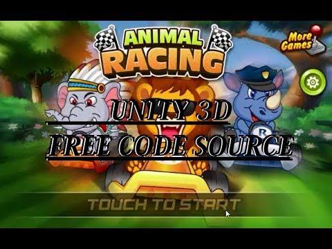 FREE CODE SOURCE UNITY 3D ANIMALS RACING لعبة جميلة مجانية على اليونيتي 3 دي للرسكين