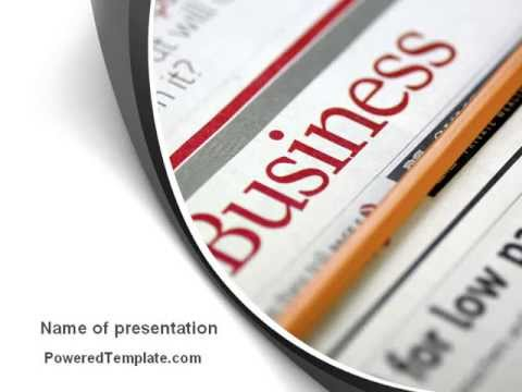 Business Newspaper PowerPoint Template by PoweredTemplate – Newspaper Powerpoint Template