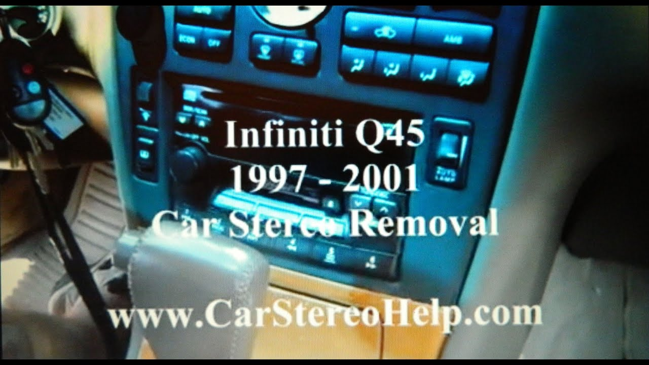 How To Infiniti Q45 Bose Car Stereo Removal 1997 2001 Repalce 1999 J30 Radio Wiring Repair