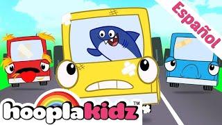 Cinco Autobuses en la Carretera - Canciones Infantiles | HooplaKidz en Español