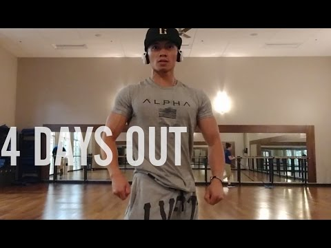 MEN'S PHYSIQUE POSING PRACTICE! PEAK WEEK   4 Days out!