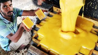 Jaggery Making Process From Sugarcane Juice | Traditional Jaggery Production Process | Gurr | Bellam