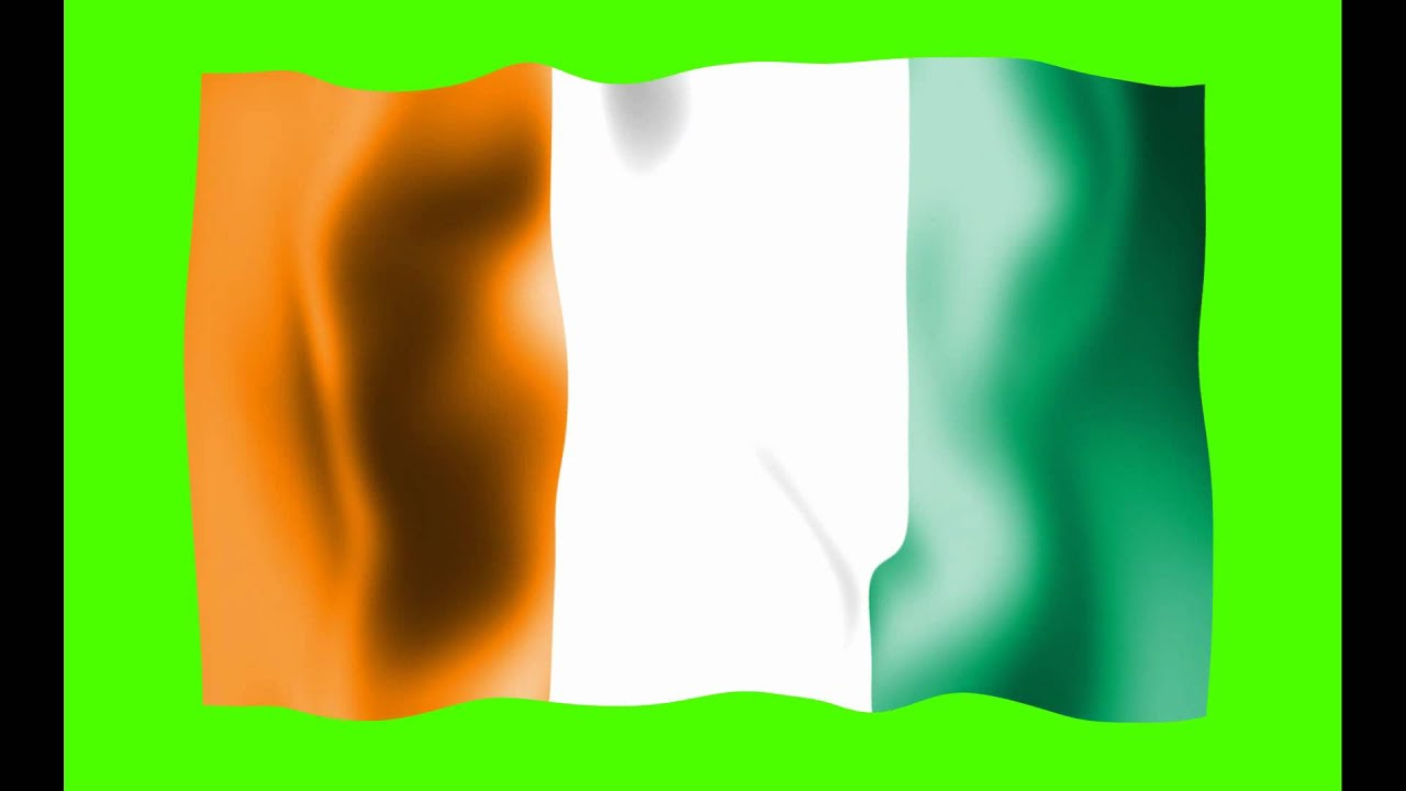 cote divoire waving flag green screen animation free royalty footage