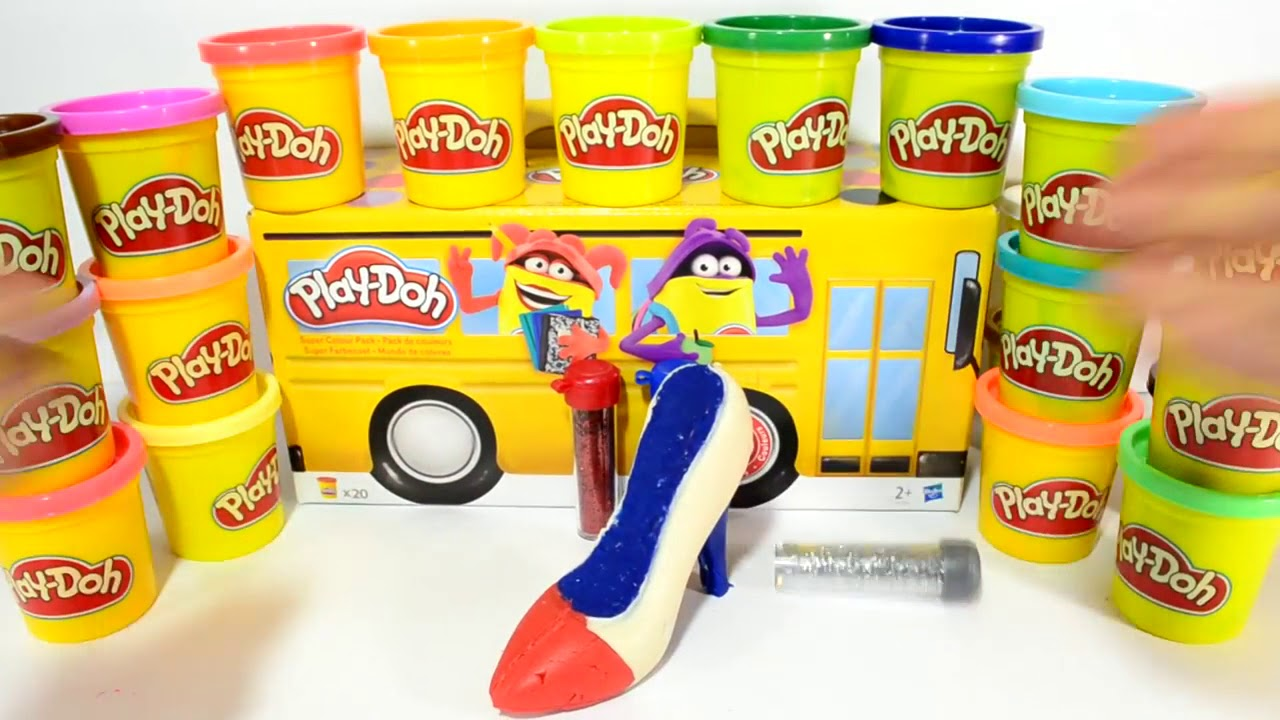 9349423773bf DIY How To Make Play Doh Harley Quinn Glitter High Heels Sparkle Shoes