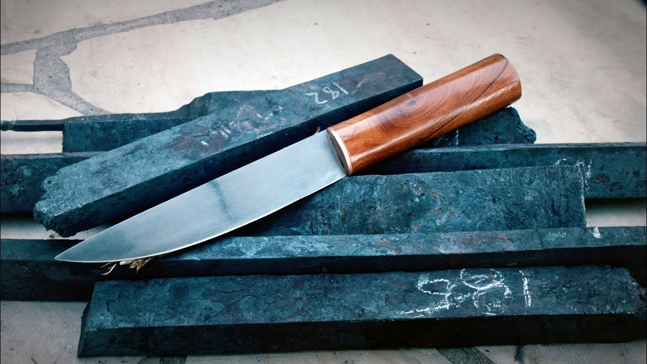 rating kitchen knives how much does a sink cost making knife from wrought iron wagon wheels: recycling ...