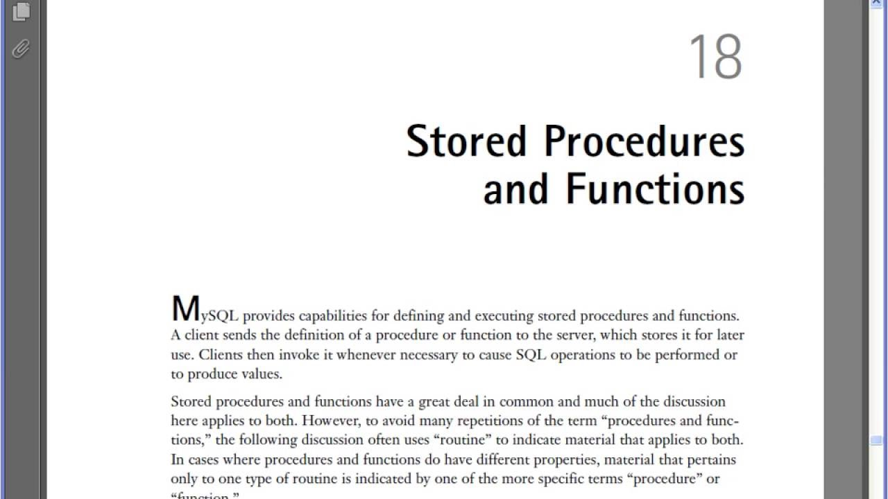 Ebook Mysql Stored Procedure Programming