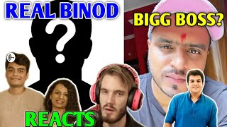 PewDiePie Reacts To BINOD | Slayy Point On Real Binod | Amit Bhadana In BIGG BOSS?, Ashish, Thugesh