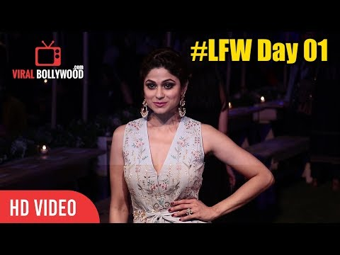 Shamita Shetty At Lakme Fashion Week 2018