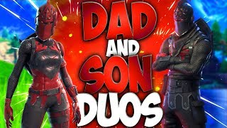 Dad And Son Duos In Fortnite Battle Royale (Dad Playing Fortnite With His Son) Episode 3