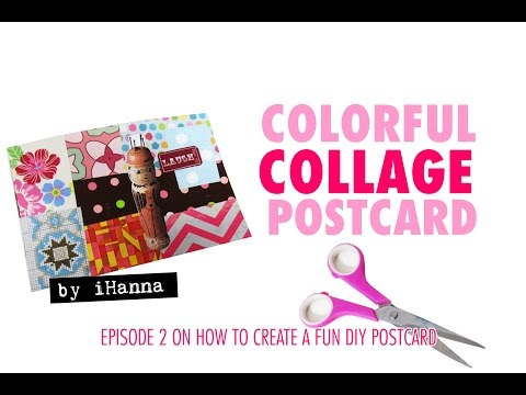 How to make a Postcard Collage (no 2): colorful & fun