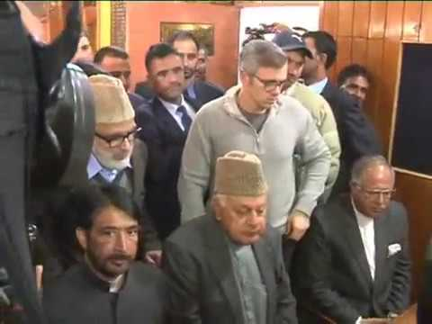 Dr. Farooq Abdullah files nomination papers for Lok Sabha seat
