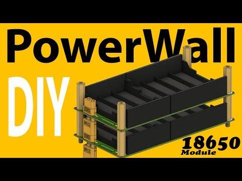 DIY Rapid Build 18650 PowerWall Module project  - design & testing thumbnail