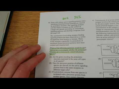 AP Biology Exam 2016 #40 Tutorial