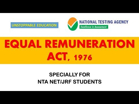 EQUAL REMUNERATION ACT,1976