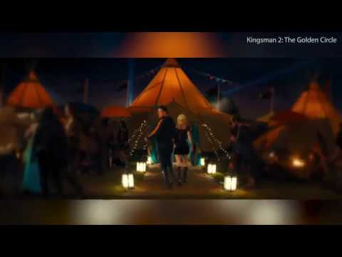 Glastonbury  in Kingsman: The Golden Circle  Taron Egerton, Poppy Delevingne