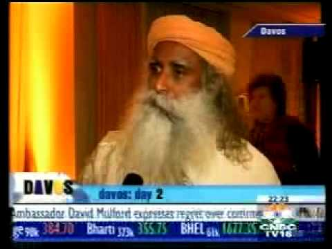 Sadhguru Jaggi Vasudev interviewed at World Economic Forum 2006 by CNBC reporter