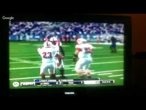 Nccaa Football 14 Season Mode On The Smu Mustangs on my Xbox 360 i wear jersey 1