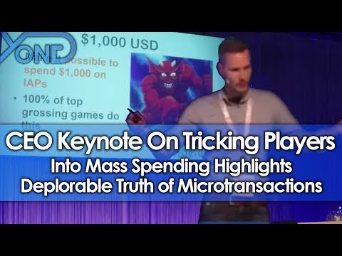 CEO Keynote On Tricking Players Into Mass Spending Highlights Deplorable Truth of Microtransactions