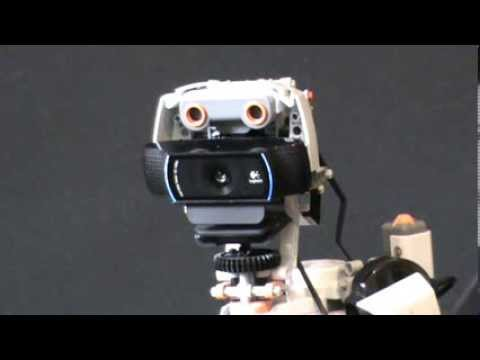 The +i mini robot performing a search in wikipedia