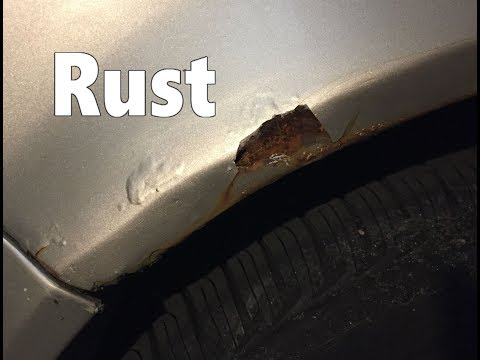 Car Fender repair rust & paint at home Diy