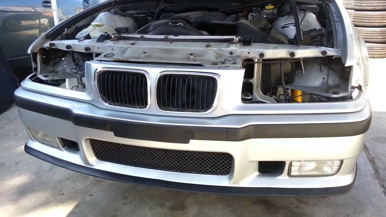 Bmw E36 M3 Front Bumper Cover Removal 325i 323i 325is