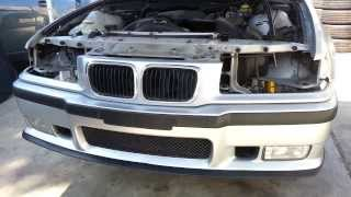 BMW E36 M3 Front Bumper Cover Removal 325i 323i 325is 328is
