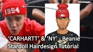 Justin Bieber | Inspired 'carhartt' & 'ny' - Beanie / Stardoll Hairdesign Tutorial | Rebeldegajo