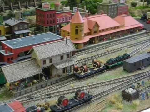 Model railroad in Z-scale