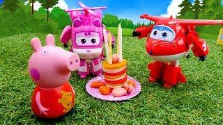 Фото Джет и Супер Крылья помогают Свинке Пеппе Сказки онлайн в видео для детей.
