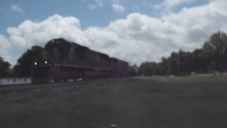 IC 1027 Death Star Awesome P5 Action!! Leading CN Manifest Train!!- Glendora, Mississippi