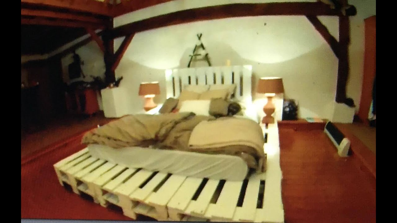 Diy Bed Palettenbett Einfach Gebaut Youtube