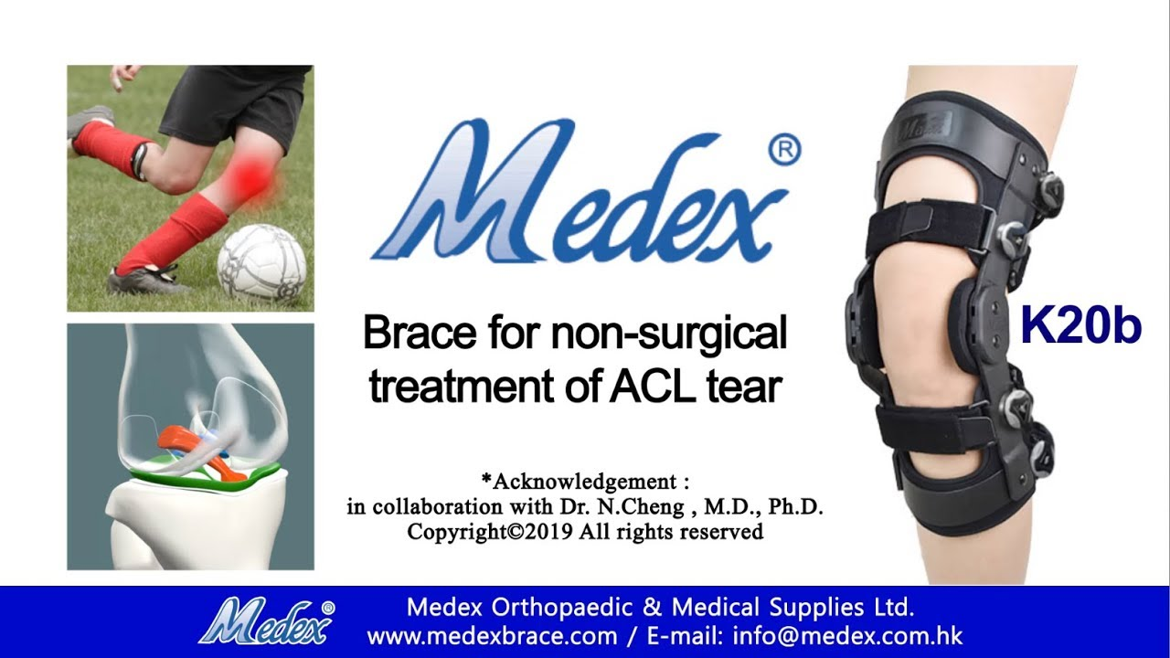K20b - Brace for non-surgical treatment of ACL tear (3D ...