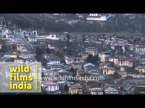 Panoramic view of Thimphu Valley: Bhutan