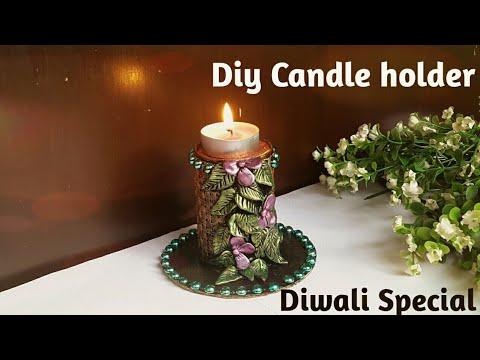 #candleholder #diwalidecor Diy Tealight Candle Holder| diy candle stand | diwali decoration ideas