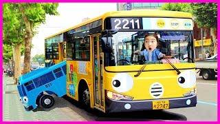 타요랑 라니버스 타고 인천 과학관 놀러 가요 Tayo Bus in Real Life 보람튜브