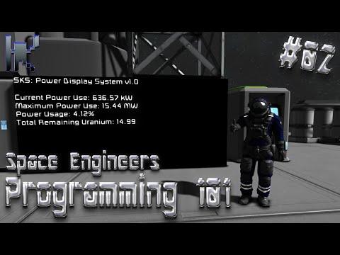 Space Engineers Programming 101 - Power Display Script