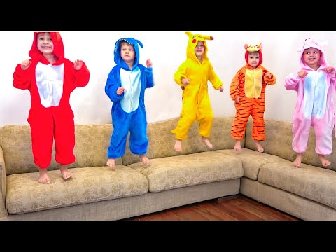 Five Little Monkeys + More Nursery Rhymes & Kids Songs | Diana Roma Show